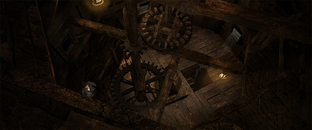 """Windmill 3D rendering"" in Sleepy Hollow 